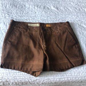 Anthropologie Leather shorts